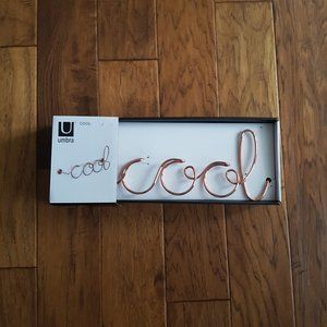 Umbra Cool Wall Decor Copper Style NWT